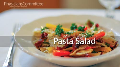 Рецепт Паста с салатом go-veg.ru